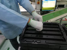 Line feeding in ESD Safe Packaging